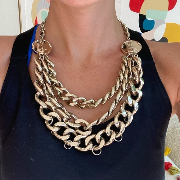 H&M chunky gold chain necklace